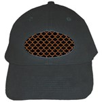 SCALES1 BLACK MARBLE & RUSTED METAL (R) Black Cap Front