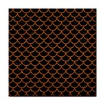 SCALES1 BLACK MARBLE & RUSTED METAL (R) Tile Coasters Front