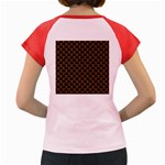 SCALES1 BLACK MARBLE & RUSTED METAL (R) Women s Cap Sleeve T-Shirt Back