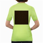 SCALES1 BLACK MARBLE & RUSTED METAL (R) Women s Green T-Shirt Back