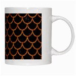 SCALES1 BLACK MARBLE & RUSTED METAL (R) White Mugs Right