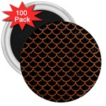 SCALES1 BLACK MARBLE & RUSTED METAL (R) 3  Magnets (100 pack) Front