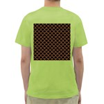 SCALES1 BLACK MARBLE & RUSTED METAL (R) Green T-Shirt Back