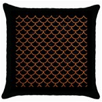 SCALES1 BLACK MARBLE & RUSTED METAL (R) Throw Pillow Case (Black) Front