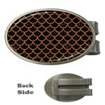 SCALES1 BLACK MARBLE & RUSTED METAL (R) Money Clips (Oval)  Front