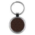 SCALES1 BLACK MARBLE & RUSTED METAL (R) Key Chains (Round)  Front