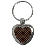 SCALES1 BLACK MARBLE & RUSTED METAL (R) Key Chains (Heart)  Front