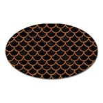 SCALES1 BLACK MARBLE & RUSTED METAL (R) Oval Magnet Front