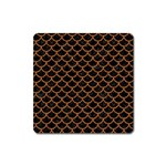 SCALES1 BLACK MARBLE & RUSTED METAL (R) Square Magnet Front