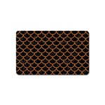 SCALES1 BLACK MARBLE & RUSTED METAL (R) Magnet (Name Card) Front