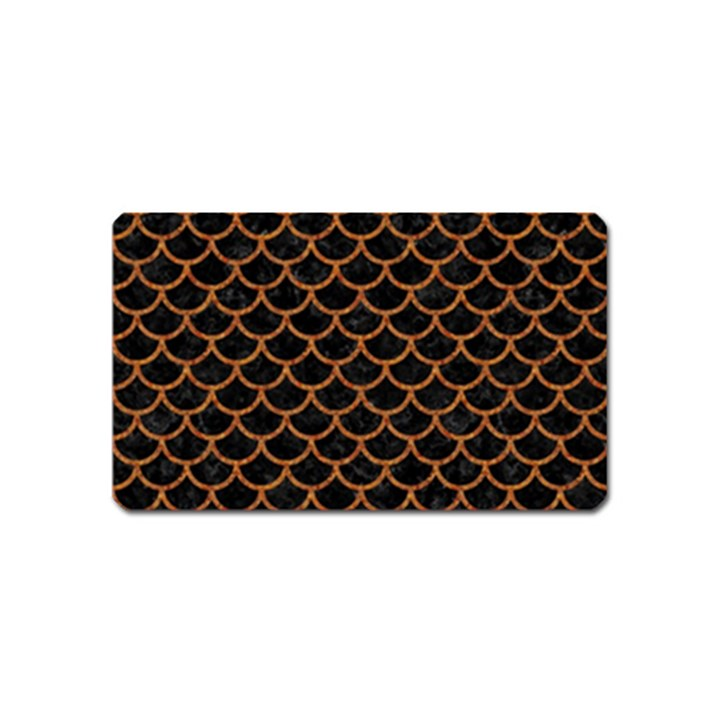 SCALES1 BLACK MARBLE & RUSTED METAL (R) Magnet (Name Card)