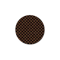 Scales1 Black Marble & Rusted Metal (r) Golf Ball Marker
