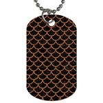 SCALES1 BLACK MARBLE & RUSTED METAL (R) Dog Tag (Two Sides) Back