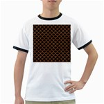 SCALES1 BLACK MARBLE & RUSTED METAL (R) Ringer T-Shirts Front