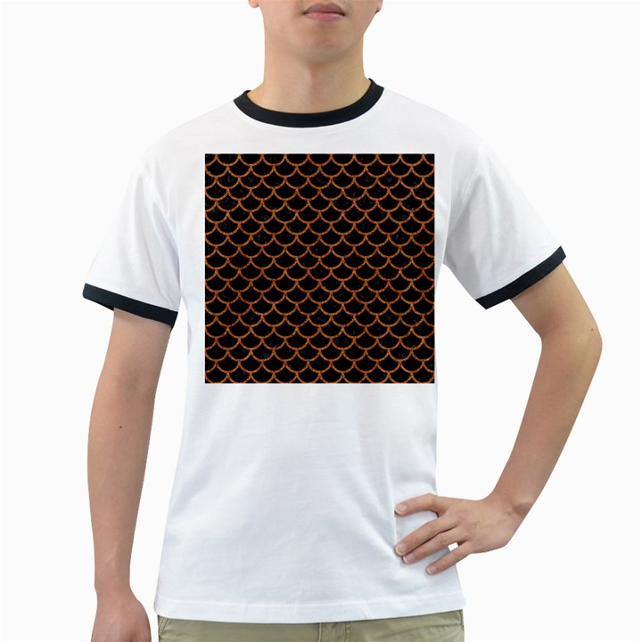 SCALES1 BLACK MARBLE & RUSTED METAL (R) Ringer T-Shirts