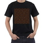 SCALES1 BLACK MARBLE & RUSTED METAL (R) Men s T-Shirt (Black) (Two Sided) Front