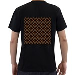 SCALES1 BLACK MARBLE & RUSTED METAL (R) Men s T-Shirt (Black) (Two Sided) Back