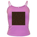 SCALES1 BLACK MARBLE & RUSTED METAL (R) Dark Spaghetti Tank Front