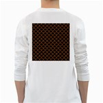 SCALES1 BLACK MARBLE & RUSTED METAL (R) White Long Sleeve T-Shirts Back
