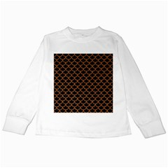 Scales1 Black Marble & Rusted Metal (r) Kids Long Sleeve T Shirts