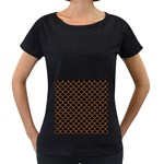 SCALES1 BLACK MARBLE & RUSTED METAL (R) Women s Loose-Fit T-Shirt (Black) Front