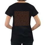 SCALES1 BLACK MARBLE & RUSTED METAL (R) Women s Loose-Fit T-Shirt (Black) Back