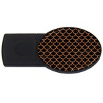 SCALES1 BLACK MARBLE & RUSTED METAL (R) USB Flash Drive Oval (4 GB) Front