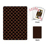 SCALES1 BLACK MARBLE & RUSTED METAL (R) Playing Card Back