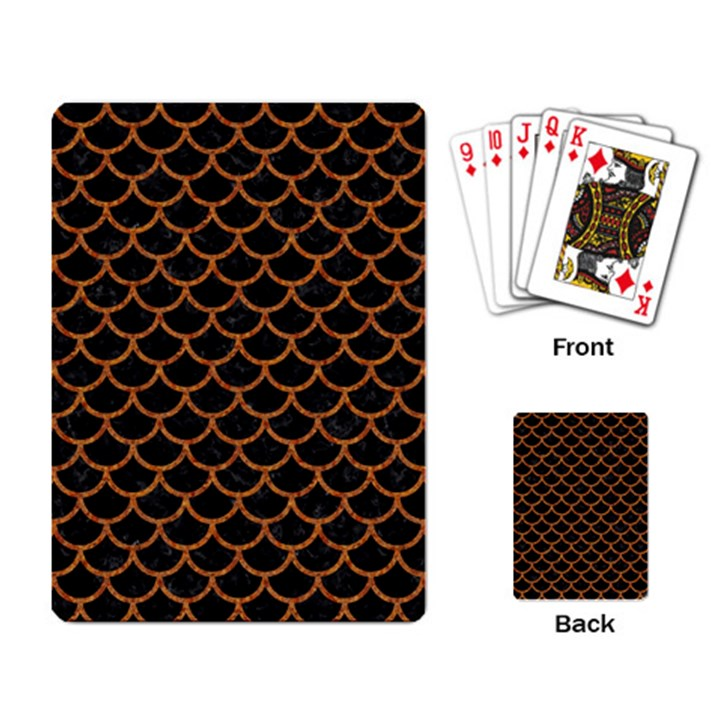 SCALES1 BLACK MARBLE & RUSTED METAL (R) Playing Card