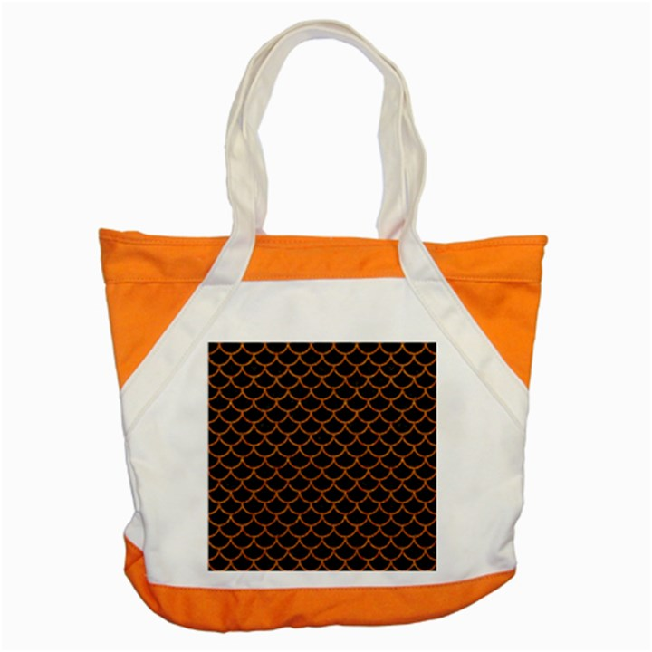 SCALES1 BLACK MARBLE & RUSTED METAL (R) Accent Tote Bag