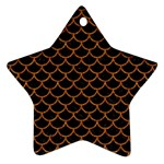 SCALES1 BLACK MARBLE & RUSTED METAL (R) Star Ornament (Two Sides) Back