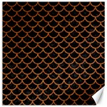 SCALES1 BLACK MARBLE & RUSTED METAL (R) Canvas 12  x 12   12 x12 Canvas - 1