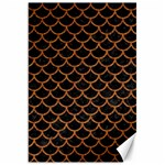 SCALES1 BLACK MARBLE & RUSTED METAL (R) Canvas 20  x 30   30 x20 Canvas - 1