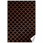 SCALES1 BLACK MARBLE & RUSTED METAL (R) Canvas 24  x 36  36 x24 Canvas - 1
