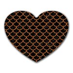 SCALES1 BLACK MARBLE & RUSTED METAL (R) Heart Mousepads Front