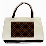 SCALES1 BLACK MARBLE & RUSTED METAL (R) Basic Tote Bag (Two Sides) Front