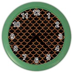 SCALES1 BLACK MARBLE & RUSTED METAL (R) Color Wall Clocks Front