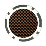 SCALES1 BLACK MARBLE & RUSTED METAL (R) Poker Chip Card Guard Front