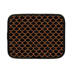 Scales1 Black Marble & Rusted Metal (r) Netbook Case (small)