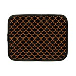 SCALES1 BLACK MARBLE & RUSTED METAL (R) Netbook Case (Small)  Front