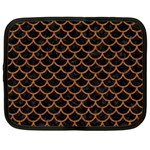 SCALES1 BLACK MARBLE & RUSTED METAL (R) Netbook Case (Large) Front
