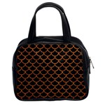 SCALES1 BLACK MARBLE & RUSTED METAL (R) Classic Handbags (2 Sides) Front