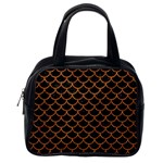 SCALES1 BLACK MARBLE & RUSTED METAL (R) Classic Handbags (2 Sides) Back