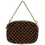 SCALES1 BLACK MARBLE & RUSTED METAL (R) Chain Purses (Two Sides)  Front