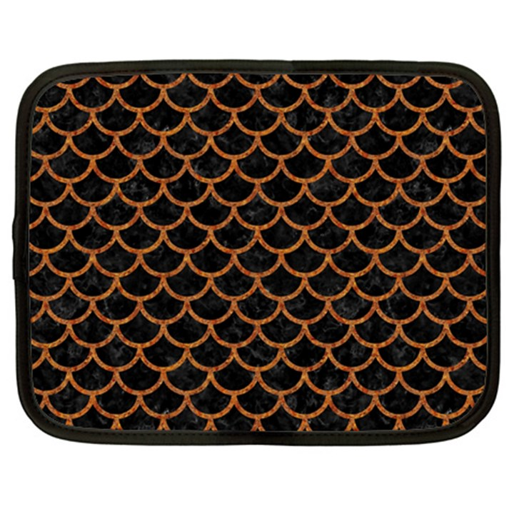 SCALES1 BLACK MARBLE & RUSTED METAL (R) Netbook Case (XL)