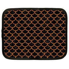 Scales1 Black Marble & Rusted Metal (r) Netbook Case (xxl)