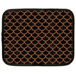SCALES1 BLACK MARBLE & RUSTED METAL (R) Netbook Case (XXL)  Front