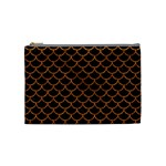 SCALES1 BLACK MARBLE & RUSTED METAL (R) Cosmetic Bag (Medium)  Front