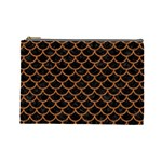 SCALES1 BLACK MARBLE & RUSTED METAL (R) Cosmetic Bag (Large)  Front