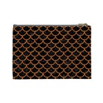 SCALES1 BLACK MARBLE & RUSTED METAL (R) Cosmetic Bag (Large)  Back